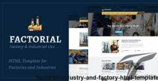 Factorial - Industry And Factory HTML Template