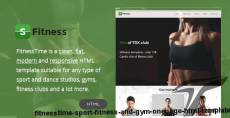 FitnessTime - Sport, Fitness and Gym Onepage HTML Template