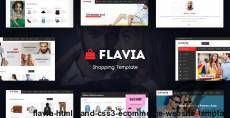 Flavia - HTML5 and CSS3 eCommerce Website Template