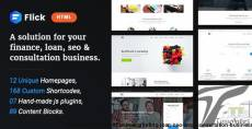 Flick - A Solution for Finance, Marketing, Loan, SEO & Consultation Business.