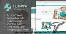FluffyPaw - WordPress theme for veterinary clinic or pet care center.