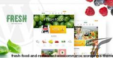 Fresh - Food and Restaurant WooCommerce WordPress Theme