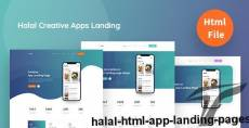 Halal HTML App Landing Pages By codercredit