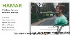Hamar - One Page Corporate HTML Template