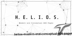Helios - Modern and Conceptual 404 Pages