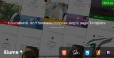 Illume - Single Page Educational / Business Purpose Bootstrap Html5 Template
