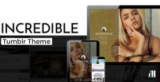 Incredible - Modern & Responsive Tumblr Theme