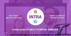Intra - Multi-Page + One Page Multi-Purpose Drupal 8 Theme By drupalet