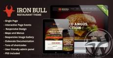 Iron Bull Restaurant Concrete5 Theme