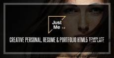 Just Me | Creative Personal Resume, vCard & Portfolio HTML5 Template