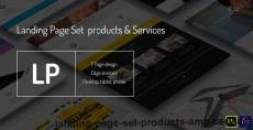 Landing page - set products & services