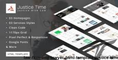 Law Firm and Lawyer HTML Template - Justice Time