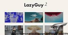 LazyGuy 2 - Personal Landing Page Template for Everyone
