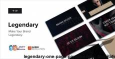 Legendary // One Page Parallax HTML Template