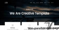 LION - Parallax  One Page