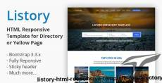 Listory - HTML Responsive Template for Directory