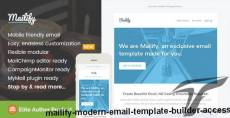 Mailify, Modern Email Template + Builder Access