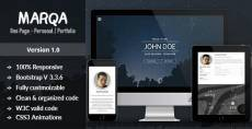 Marqa   One Page Personal & Portfolio HTML Template