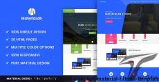 Materialab - Multi Concept Material HLTML5 Template