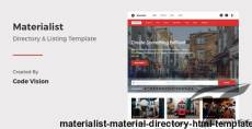 Materialist - Material Directory HTML Template