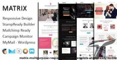 Matrix - Multipurpose Responsive Email Template + Stampready Builder
