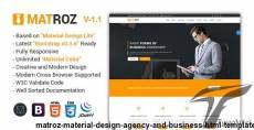MatRoz   Material Design Agency and Business HTML Template