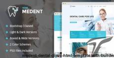 Medent - dental clinic HTML template with Builder