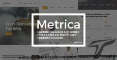 Metrica   Highly Flexible Component Based HTML5 Template