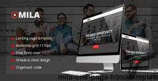 Mila - One Page HTML Template