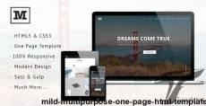 Mild - Multipurpose One Page HTML Template