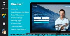 Minutes - Startup Landing Page Bootstrap WP Theme