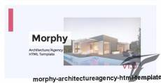 Morphy - Architecture/Agency HTML Template