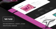 Musse - One Page Portfolio / Agency / Studio Creative Html Template