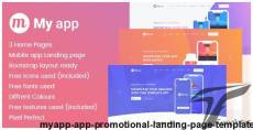 Myapp - App Promotional Landing Page Template By mad_brains