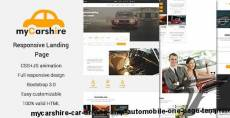 myCarshire - Car, Driving & Automobile One Page Template