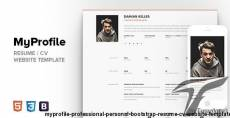 MyProfile - Professional Personal Bootstrap Resume / CV Website Template