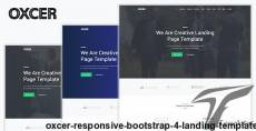 Oxcer - Responsive Bootstrap 4 Landing Template By themesboss