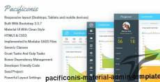 Pacificonis - Material Admin Template