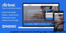 Pagewiz Responsive Landing Page Template - Airhost