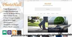 PhotoHall - Responsive Photography Blogger Template