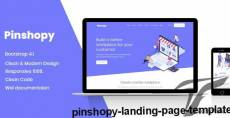 Pinshopy Landing Page Template By design_grapahma