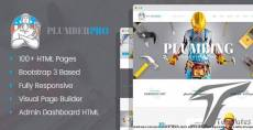 PlumberPro - Handyman/Plumber Service HTML Template with Visual Page Builder and Dashboard Pages