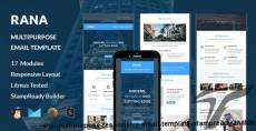 RANA - Multipurpose Responsive Email Template + Stampready Builder