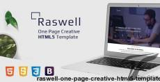 Raswell - One Page Creative HTML5 Template
