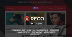 Reco - A recopilatory theme for Ghost By estudiopatagon