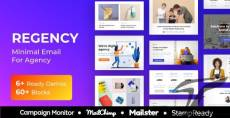 Regency - Agency Multiprupose Responsive Email Template + Stampready Builder + Mailster & Mailchimp By themetrida