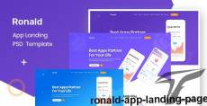 Ronald- App Landing Page By designlight