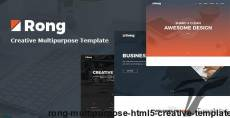 Rong - MultiPurpose HTML5 Creative Template