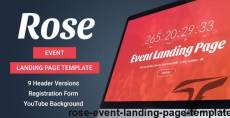 Rose - Event Landing Page Template