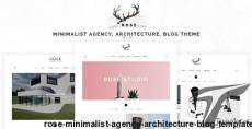 Rose - Minimalist Agency, Architecture, Blog Template